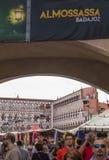 Folla che visita le tende di festival di Almossasa Fotografia Stock Libera da Diritti