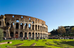 Folla a Colosseum Fotografia Stock