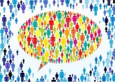 Folla Colourful Fotografia Stock Libera da Diritti