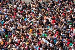 Folla degli spettatori fotografie stock