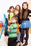 Folla dei bambini Fotografie Stock
