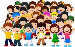 Folla dei bambini royalty illustrazione gratis
