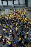 Folla dei dimostranti Fotografia Stock