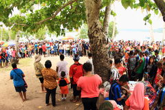 Folla dei pellegrini Fotografie Stock Libere da Diritti