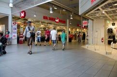 Folla del centro commerciale Fotografie Stock