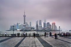 Folla del CN Pudong Fotografia Stock