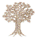 Folla del fumetto, albero Fotografie Stock