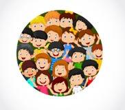 Folla del fumetto dei bambini con spazio illustrazione vettoriale