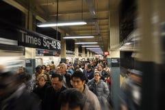 Folla del sottopassaggio Immagine Stock