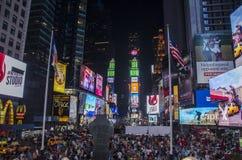 Folla del Times Square Fotografia Stock