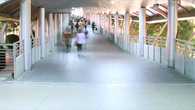 Folla della gente che cammina nella città archivi video