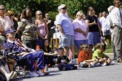Folla della gente durante il ricordo 9 11 Immagini Stock Libere da Diritti