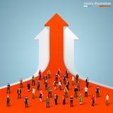 Folla della gente sul grafico Fotografie Stock