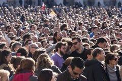 Folla della gente Teste innumerevoli Fotografia Stock Libera da Diritti