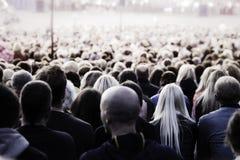 Folla della gente unrecognisable Fotografie Stock Libere da Diritti