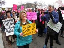 Folla delle donne al ` s marzo delle donne Fotografie Stock Libere da Diritti