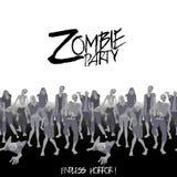 Folla dello zombie che cammina in avanti Fotografia Stock Libera da Diritti