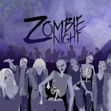 Folla dello zombie che cammina in avanti Immagine Stock Libera da Diritti