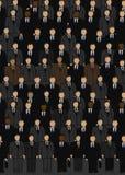 Folla di affari nei colori scuri Immagine Stock Libera da Diritti