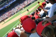 Folla di baseball fotografie stock