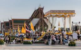 Folla di buddismo di Songkran Fotografia Stock