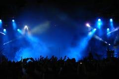 Folla di concerto Immagini Stock