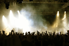 Folla di concerto Immagine Stock Libera da Diritti