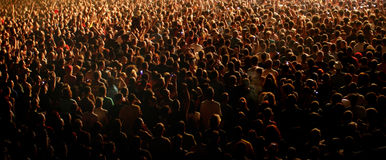 Folla di concerto Fotografie Stock