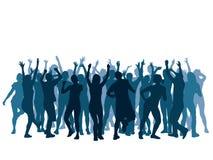 Folla di Dancing royalty illustrazione gratis