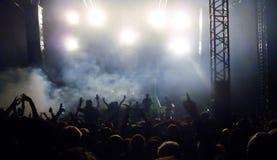 Folla di festival fotografie stock