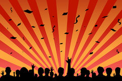 Folla di festival del partito Fotografie Stock Libere da Diritti