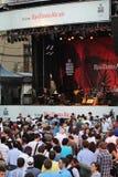 Folla di festival di jazz a Montreal Fotografia Stock