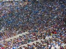 Folla di gioco del calcio Fotografia Stock