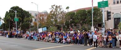 Folla di giorno dei veterani Fotografia Stock Libera da Diritti