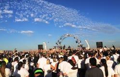 Folla di musica dell'aria aperta Fotografia Stock Libera da Diritti