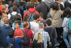 Folla di ora di punta immagine stock libera da diritti