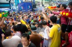 Folla di Songkran Immagine Stock