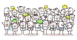 Folla e felicità royalty illustrazione gratis