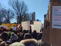 Folla enorme, marzo per le nostre vite, NYC, NY, U.S.A. Immagine Stock Libera da Diritti