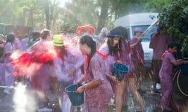 Folla felice durante il Haro Wine Festival Immagine Stock Libera da Diritti