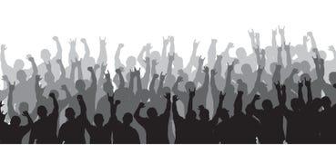 Folla incoraggiante 20 Immagini Stock