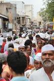 Folla indiana del villaggio Immagine Stock