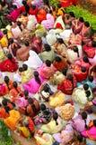 Folla indiana della donna Fotografia Stock
