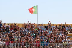 Folla MUNDIALITO - gruppo PORTOGHESE Carcavelos 2017 Portogallo Fotografia Stock Libera da Diritti