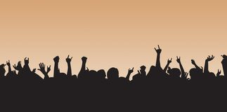 Folla pazzesca Immagine Stock Libera da Diritti