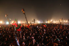 Folla politica di raduno immagine stock libera da diritti