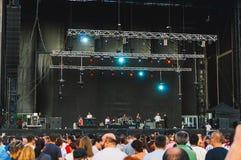 Folla riunita per il concerto Fotografia Stock