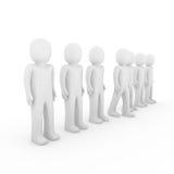 folla umana del basamento 3d Immagini Stock