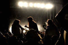 Folla in un partito al festival FIB Fotografia Stock