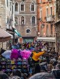 Folla veneziana Immagini Stock